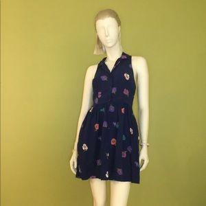 Floral button front dress
